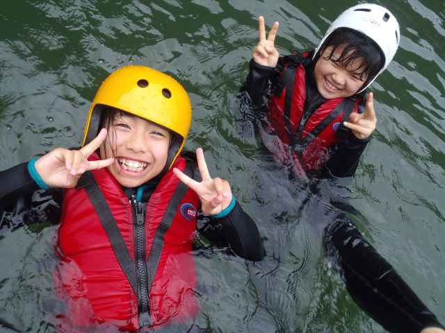 Kids have a smile as BIGSMILE Rafting.