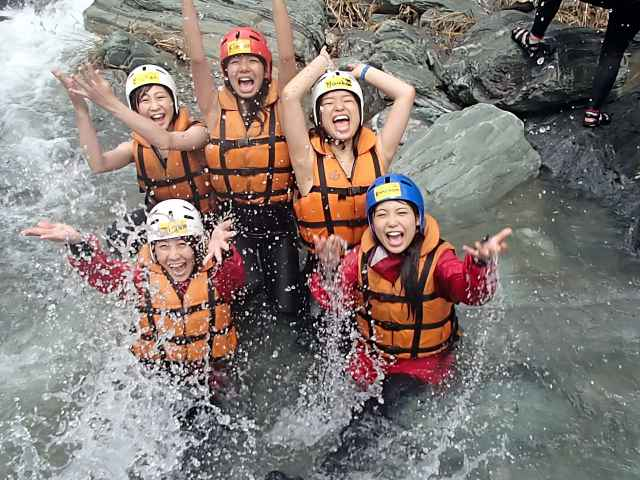 Not only rafting, try jumping!