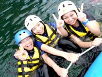 Not only big wave! Let's enjoy the Nagara river in the whole body