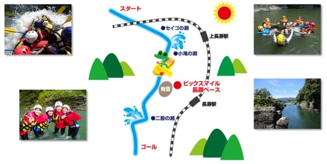 Map of Nagatoro Rafting