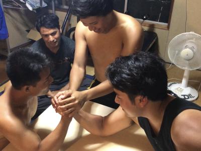 腕相撲大会!